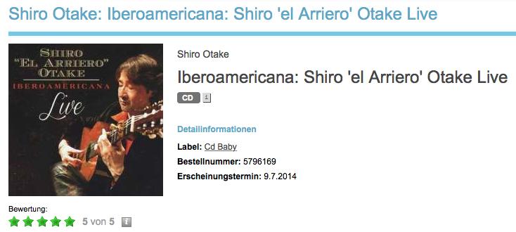 「イベロアメリカーナ/ライヴ」がドイツで5スター評価